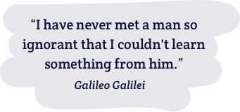 Famous quote by Galilei